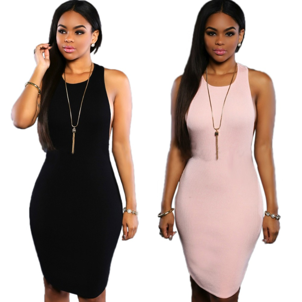 cd7333cf26 Fashion Summer Style Sexy Ladies Dress Backless Club Sleeveless Dresses  Party Women s Midi Casual Dresses Wear Clothing