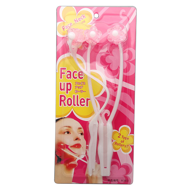 2 In1 Face Up Roller Face-Lifting Firming Roller Massage Product Face Slimmer Remove Chin Anti Wrinkle Roller Women Beauty Tools