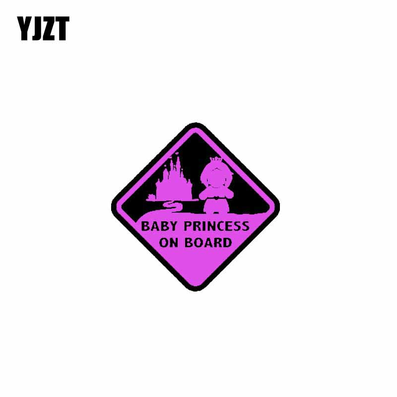 YJZT 15.8CM*15.8CM Car Sticker BABY PRINCESS ON BOARD PVC Decal 12-40475