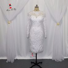 Winter Lace Little White Short Evening Dress Sheath Vestido de Festa Curto Imported  Party Dress Long 8daa4e7559b0