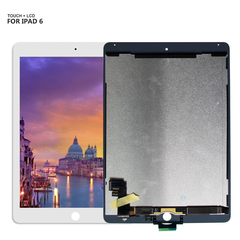 For iPad 6 Lcd Display Touch Screen Digitizer Panel Assembly Replacement For iPad Air 2 A1566 A1567 5pcs lot dhl ems 9 7 for apple ipad air 2 a1567 a1566 full lcd display with touch screen digitizer panel assembly complete
