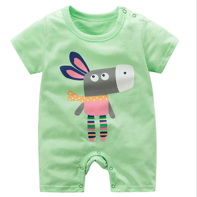 Baby Single Breasted Cotton Romper