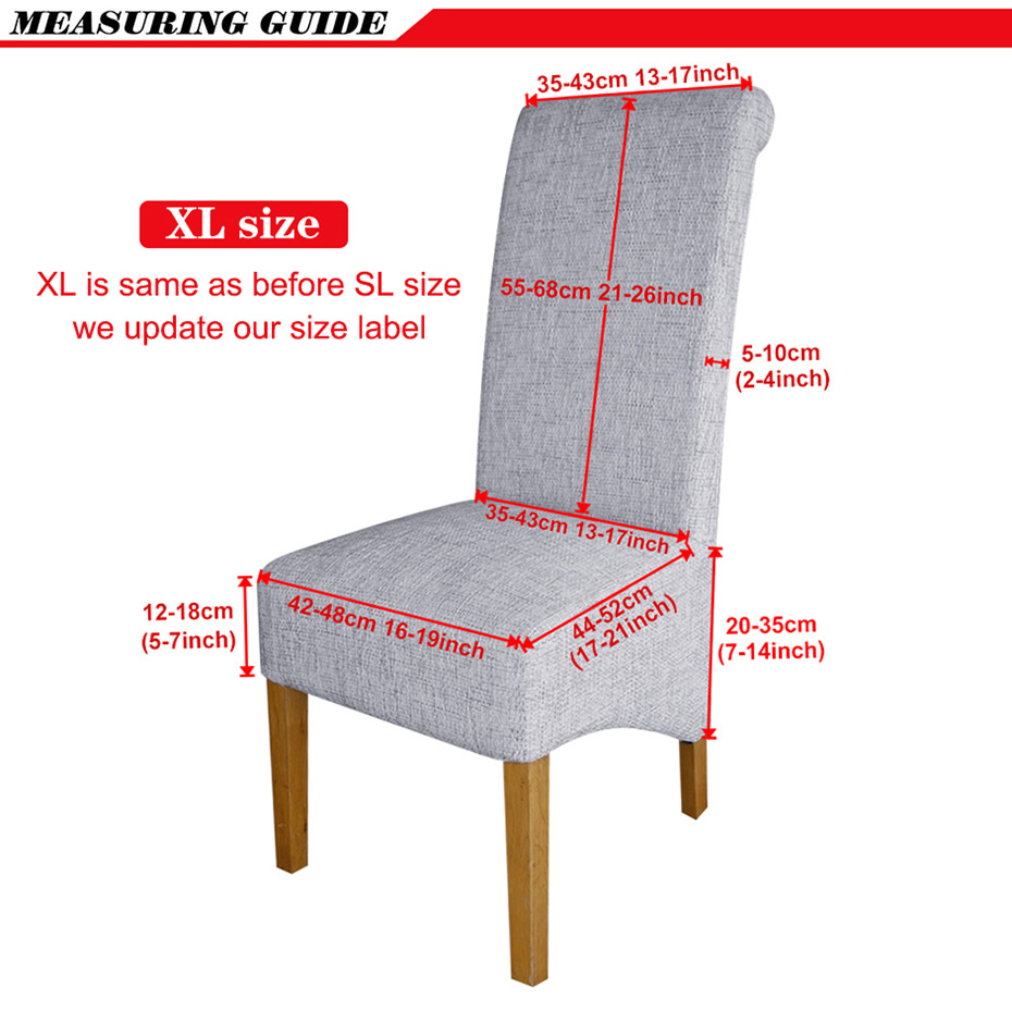 XL Size Long Back Chair Cover Europe Style Big Size Seat Chair Covers Restaurant Hotel Party Banquet Slipcovers home decoration