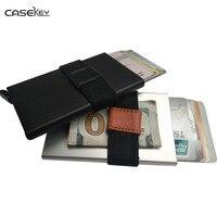 CaseKey Dünne Aluminiun RFID Geldbörse Legierung Kreditkarteninhaber Fall geld Bank Kartenhalter Business Männer Card Safe Kühlen Mini geldbörse