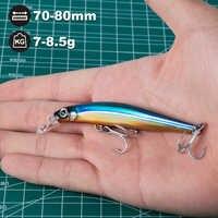 Caza casa señuelo de pesca duro artista minnow pesca de agua dulce señuelo cebo duro 70mm 7g 80mm 8,5 gancho mustad de Japón g más