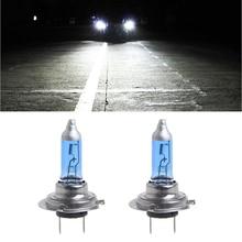 1 Pair Car Headlight H7 Lamp Super White Car Halogen Bulb 100W Fog Light DC 12V
