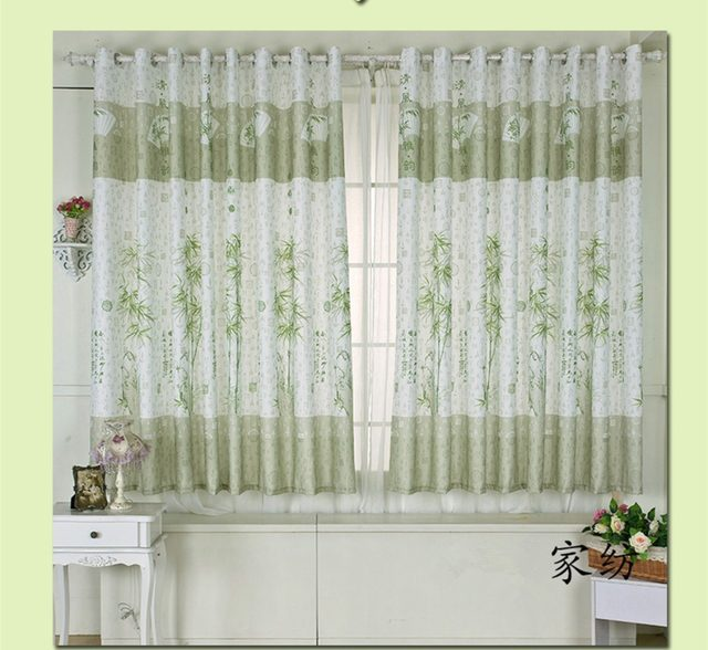 Incroyable Chinese Traditional Bamboo Door Curtains Short Curtain For The Living Room