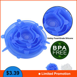 BIUBIUTUA 6pcs/set Silicone Lids Reusable Food Cover