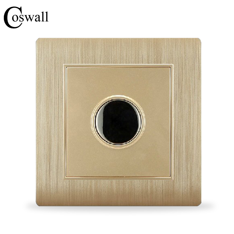 цена COSWALL Luxury Wall Timer Switch Touch Time Delay Switch Champagne Gold C31 Series AC 110~250V
