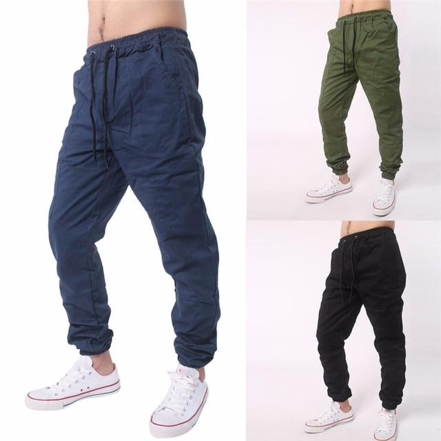 d0a458685a7 Men Plus Size Pants Trousers Harem Sweatpants Slacks Casual Jogger  Sportwear Baggy Comfy Pant For Men