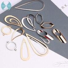 Diy минималистичные геометрические медные серьги-гвоздики, аксессуары, серьги-подвески с двойным отверстием