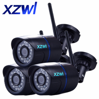 3 PCS 720P WIFI IP Cameras IP65 Waterproof 720P HD Network 1 0MP Wifi Camera Day