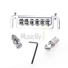 Chrome Zinc Alloy Wraparound Bridge For Les Paul LP Electric Guitar Parts