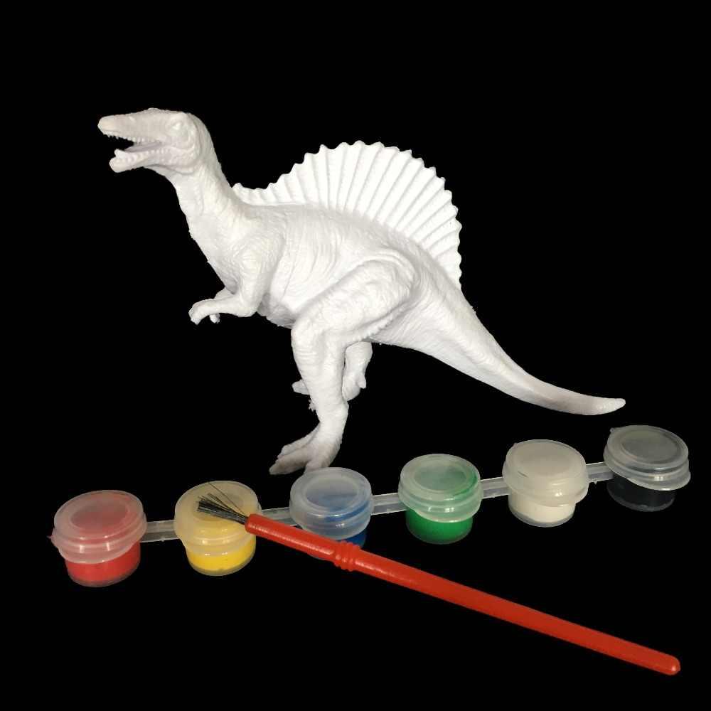 TỰ LÀM Màu Sơn Động Vật Khủng Long Brachiosaurus Stegosaurus Tyrannosaurus Rex Mô Hình Vẽ Graffiti Trẻ Em Đồ Chơi Trẻ Em