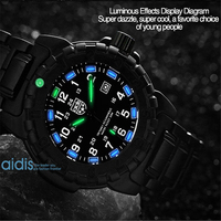 AIDIS Top Luxury Brand Men S Watches Military 50M Waterproof Stainless Steel Strap Diving Luminous Watch