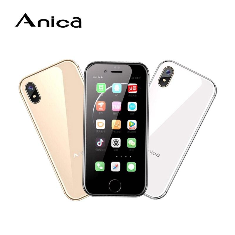 Anica i8 Mini Smartphone, Newmodel 2,45 WCDMA 3G cep Telefonu Movi, 8 GB GPS WiFi Box altavoz Celulares teléfono móvil android 6,0
