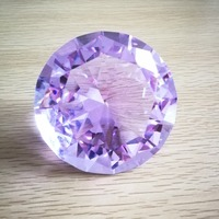 100mm 20PCS Brilliant K9 Crystal AAA Lilac Crystal Diamond Paperweight Nail Props Cut Glass Wedding Ornaments Gifts