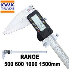 Цифровой штангенциркуль 500 мм 600 мм 1000 мм 1500 мм длинный диапазон метрический дюймов верньерный Калибр штангенциркуль микрометр измерительный 0,01 мм допуск