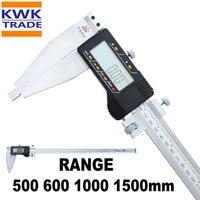 Calibre Digital  500mm 600mm 1000mm 1500mm de largo rango métrico pulgadas de Calibre Vernier calibres de micrómetros de 0 01mm de la tolerancia