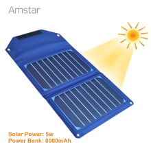 10W SUNPOWER Panel Solar Charger with 8000mAh Power Bank Foldable Solar Panel Charger Portable Solar Charger for Mobile Phone