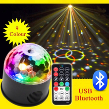 Zhenlong 9 Colors Crystal Magic Ball Led Stage Lamp Car Bluetooth Disco Laser Light Party Lights Sound Control USB Stage Light bluetooth crystal magic ball led stage lamp modes disco laser light party lights sound control christmas laser projector