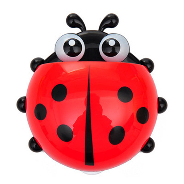 Simulation Ladybug Bath Toys for Kids Toothbrush Holder Toothpaste Tooth Brush Container Shower Toys For Children