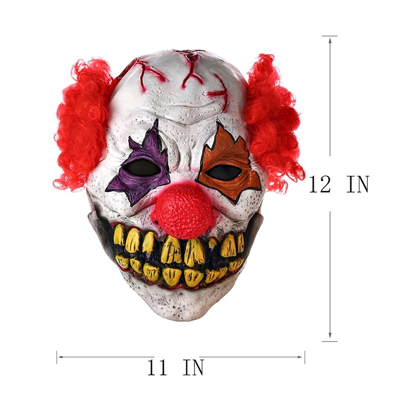 H & D Red Nose Clown Mask Circus Scary Killer Halloween Horror Latex - Barang-barang untuk cuti dan pihak - Foto 5