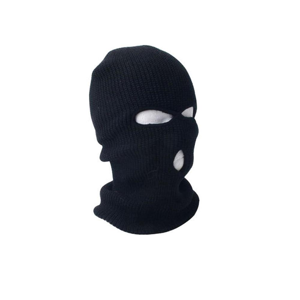 Back To Search Resultsapparel Accessories Full Face Ski Mask 3 Holes Beanie Cap Men Women Ski Hat Black Balaclava Hood Warm Windproof Ear Protector Unisex Winter Black Men's Hats