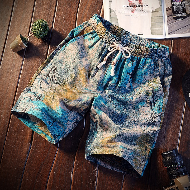 Discounted Prices 2019 New Pattern Summer Best Sellers Korean Edition Man Flower Shorts Beach Five Points Men In Casual Shorts