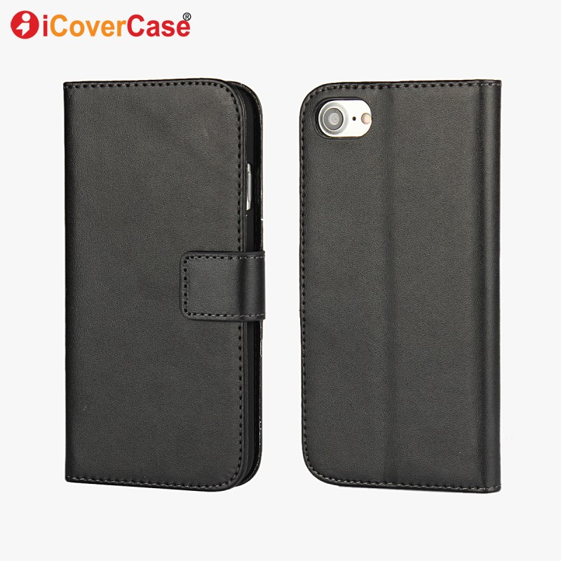 For iPhone 6s Case PU Leather Wallet Flip Cover for iPhone 4 4s 5 5s SE 5C 6 6s Plus 7 8 Plus Coque with Card Slots Kickstand