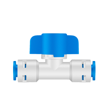 """1/4"""" - 1/4"""" OD Tube PE Hose Backwash Washing-out Ball Valve NO Plastic Clip Type Quick Connector Switch RO Water Filter System"""