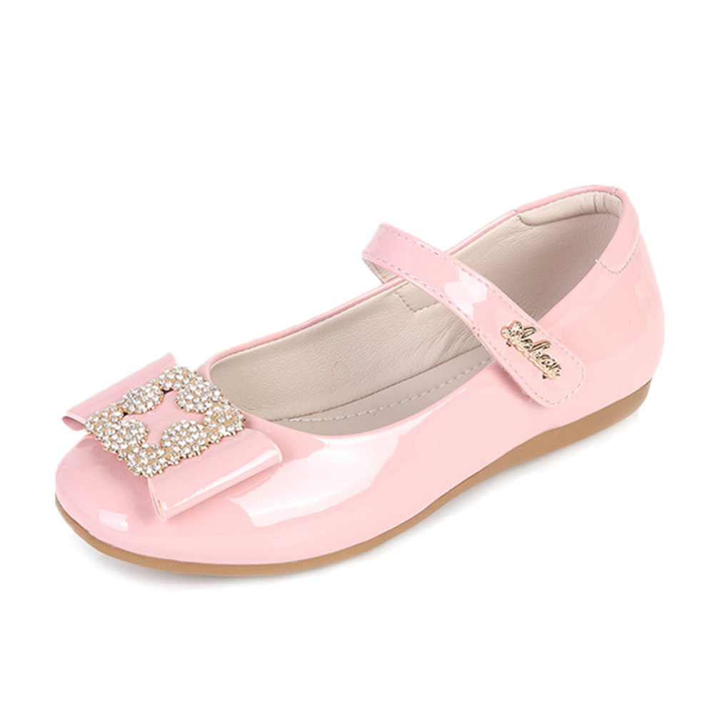 Girls Party Shoes Chaussure Sequin Flat Princess Kids Wedding Shoes School  Soft Pu Leather Loafers Toddler Princess Shoes 3338465b9d3a