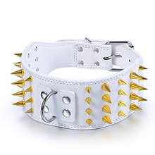Gold Sharp Spiked Studded Pet Dog Collars for Small Medium Large Pitbull Pug Mastiff Staffy Boxer