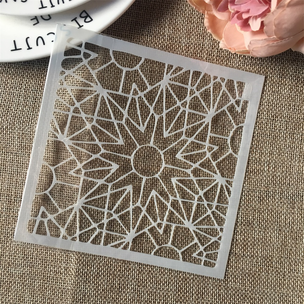 Hot 13cm Geometry DIY Craft Layering Stencils Wall Painting Scrapbooking Stamping Embossing Album Card Template