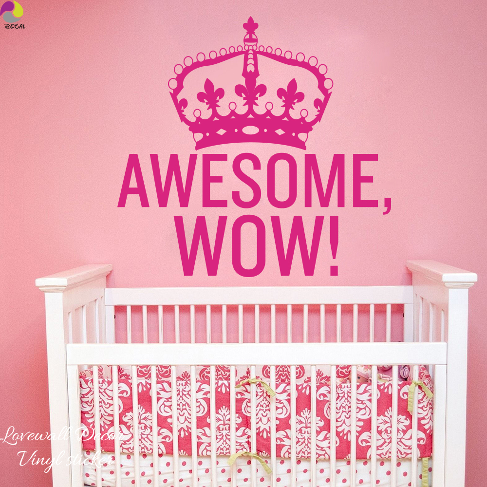 Eyes wall stickers wow modern beauty salon valentine wall decoration - Awesome Wow King George Crown Wall Sticker Baby Nursery Bedroom Family Love Inspiration Quote Wall Decal Car Window Vinyl Decor