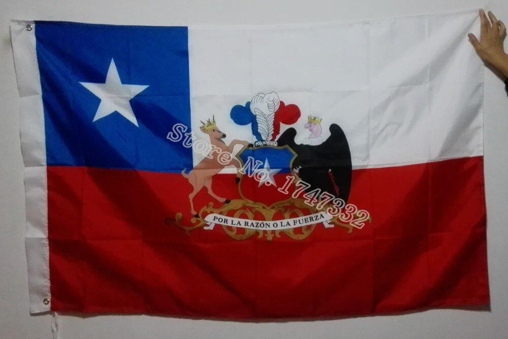 Chile President Presidential Standard Ensign Flag hot sell goods 3X5FT 150X90CM Banner brass metal holes