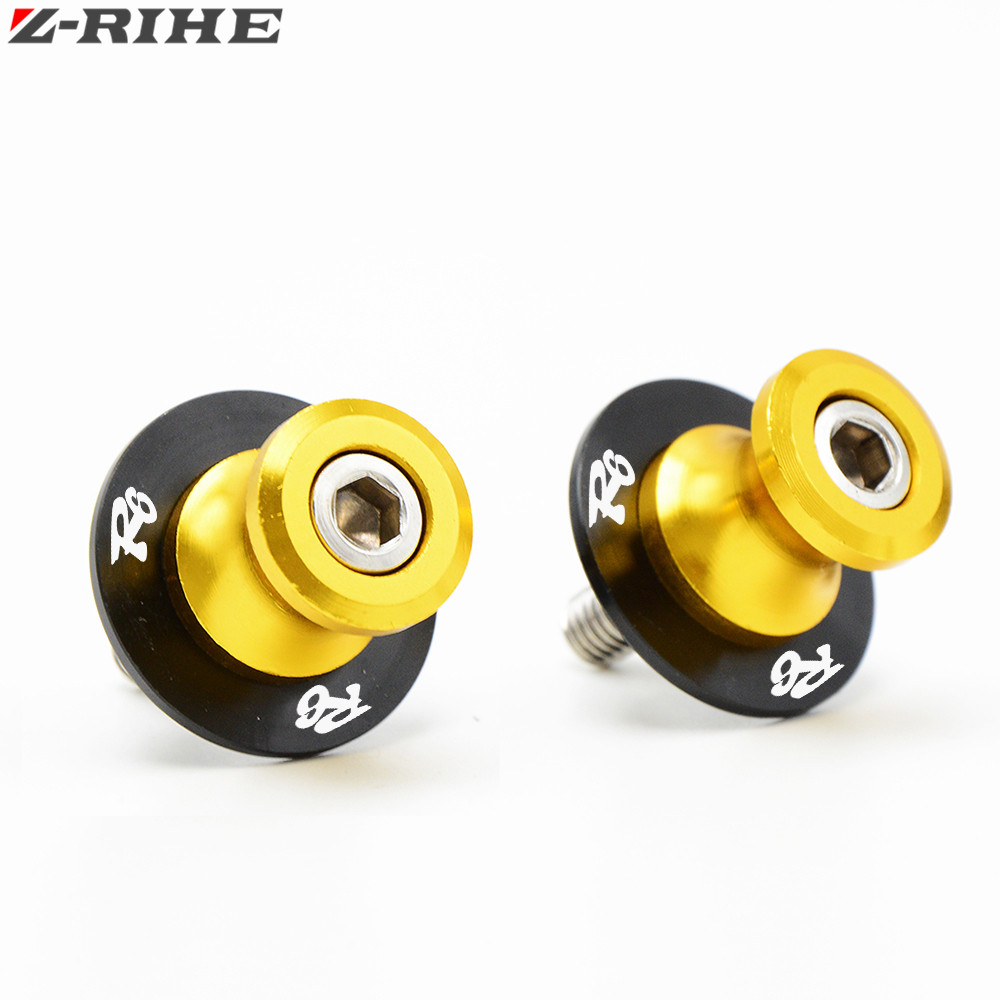 2017 Motorcycle New 6mm-10mm CNC Swingarm Slider Spools stand screws Fit For Yamaha YZF R6 YZF-R6 2004 2005 2006 -2016 R6 LOGO golden 6mm motorcycle carbon fiber swingarm spools slider fits for yamaha yzf r1 r6 r6s yzfr1 yzfr6 yzfr6s yzf r6s