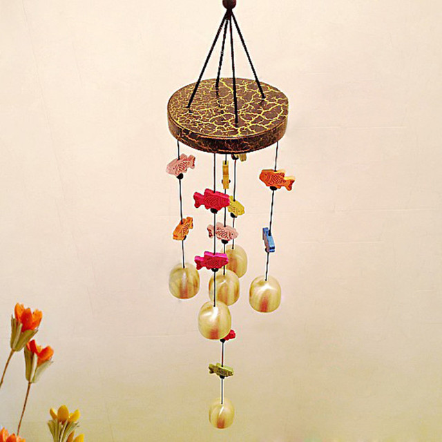 Magic Fish Wind Bell Chinese Chime Blessing Good Luck Hanging Door Garden Home Decor Classic Vintage & Magic Fish Wind Bell Chinese Chime Blessing Good Luck Hanging Door ...