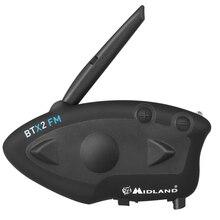 Midland btx2 fm capacete da motocicleta interfone bluetooth fone de ouvido moto 800 m bt interfone intercomunicador moto