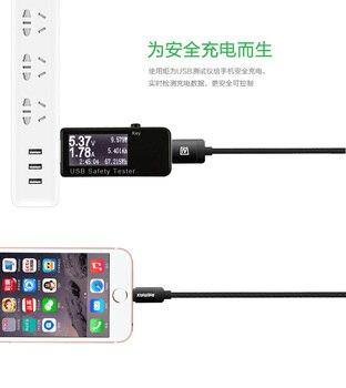 Cyfrowy Wyświetlacz 3 V-30 V USB Tester Napięcie Prądu ładowarka Pojemność Lekarz Qc2.0/3.0 Szybkie ładowanie Miernik Banku Mocy Woltomierz