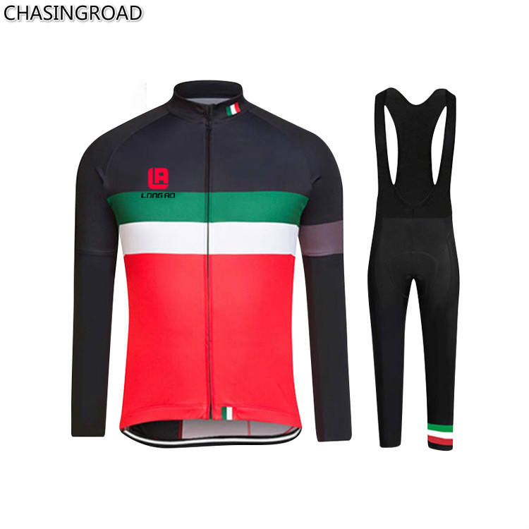 ФОТО New 2017 Men and Women Long Sleeve Straps Outdoor Cycling Wear To Keep Warm Winter Fleece Suit Cycling Jerseys Wholesale