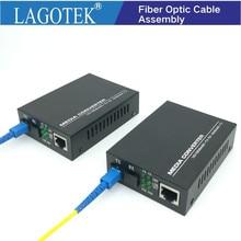 Professionnel une paire de convertisseur de médias de fibres optiques émetteur récepteur de fibres convertisseur de fibres simples 25km SC 10/100M Fiber monomode