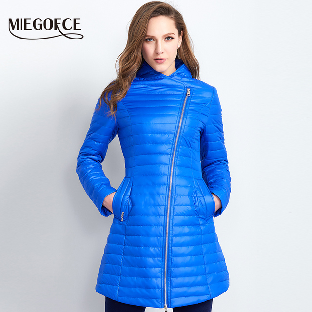 MIEGOFCE 2017 Spring Parka Coat For Women Thin Cotton-Padded Jacket Oblique Placket Women's Jacket Coat Womens Quilted Coat Hot