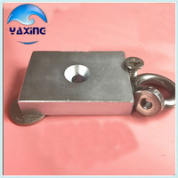 1 Pcs N35 Neodymium Magnets Magnet Block Super Strong Hole Magnetic 70x50x13mm 70 50 13mm