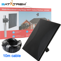 SatXtrem 318A Outdoor Indoor DVB T2 T Digital TV Base Antenna 260km 160 Miles Signal Amplifier HDTV Aerial With 10M Cable Free