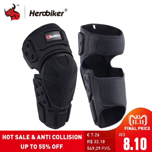 73f7b5c1aeb Rodilleras para motocicleta HEROBIKER rodilleras Motocross Protector de  rodilla Moto Protector de rodilla engranaje de protección