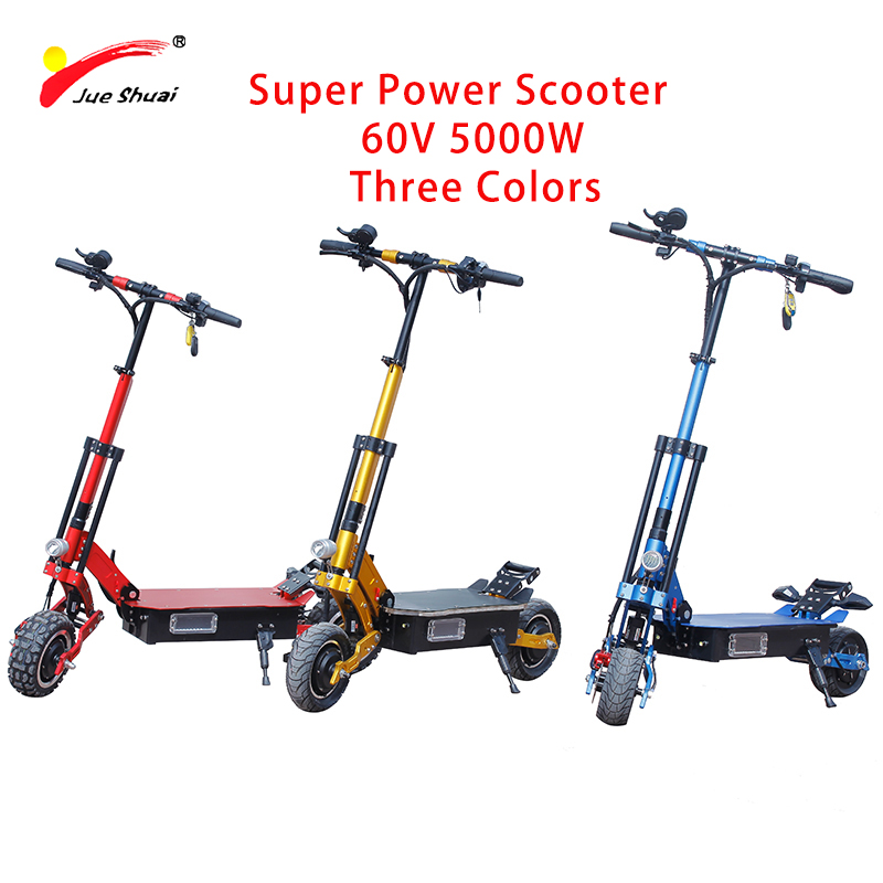 Scooters Confident Js X11 60v 5000w 11inch Off Road Electric Scooter Two Wheel Brushless Powerful Motor Hoverboard Ce Ruimas Unisex Adult Koowheel