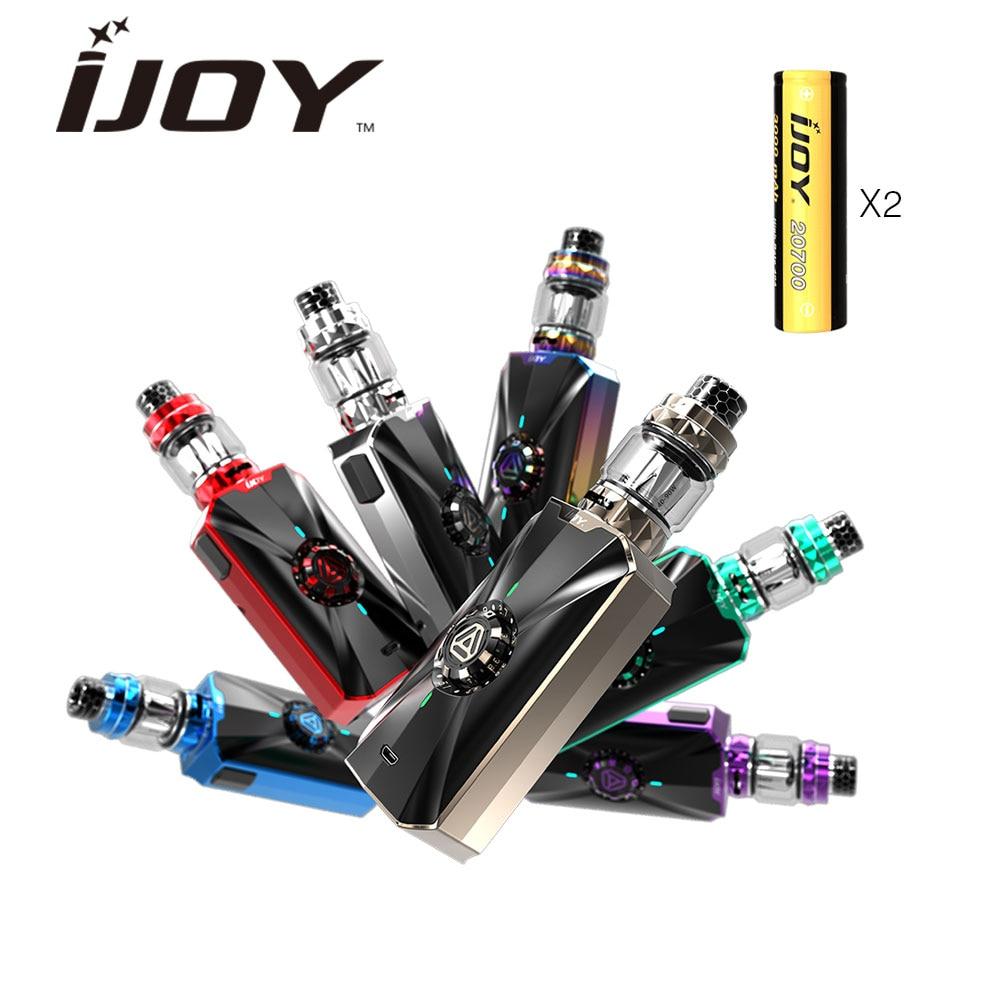 JOIE Zénith 3 VV Kit avec 360 W Boîte MOD & Double 20700 Batteries et 2 ml Subohm Réservoir Atomiseur et DM-MESH/DM Bobine Vaporisateur E-cigarette Kit