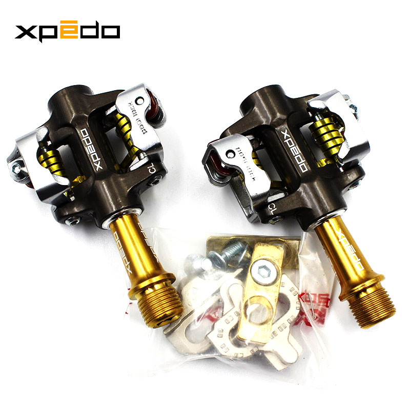 Xpedo vélo professionnel course auto-verrouillage vtt pédales ultraléger haut de gamme pédale en alliage de titane entièrement clos pédales de roulement