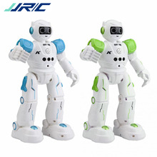 JJRC R11 Touch Sensing Singing Dancing Gesture Intelligent Smart RC Action Figures Robot Toy With LED Eye Lights Birthday Gift jxd 1016a kib intelligent balance gesture control boxing drive rc robot wheelbarrow dancing toy gift